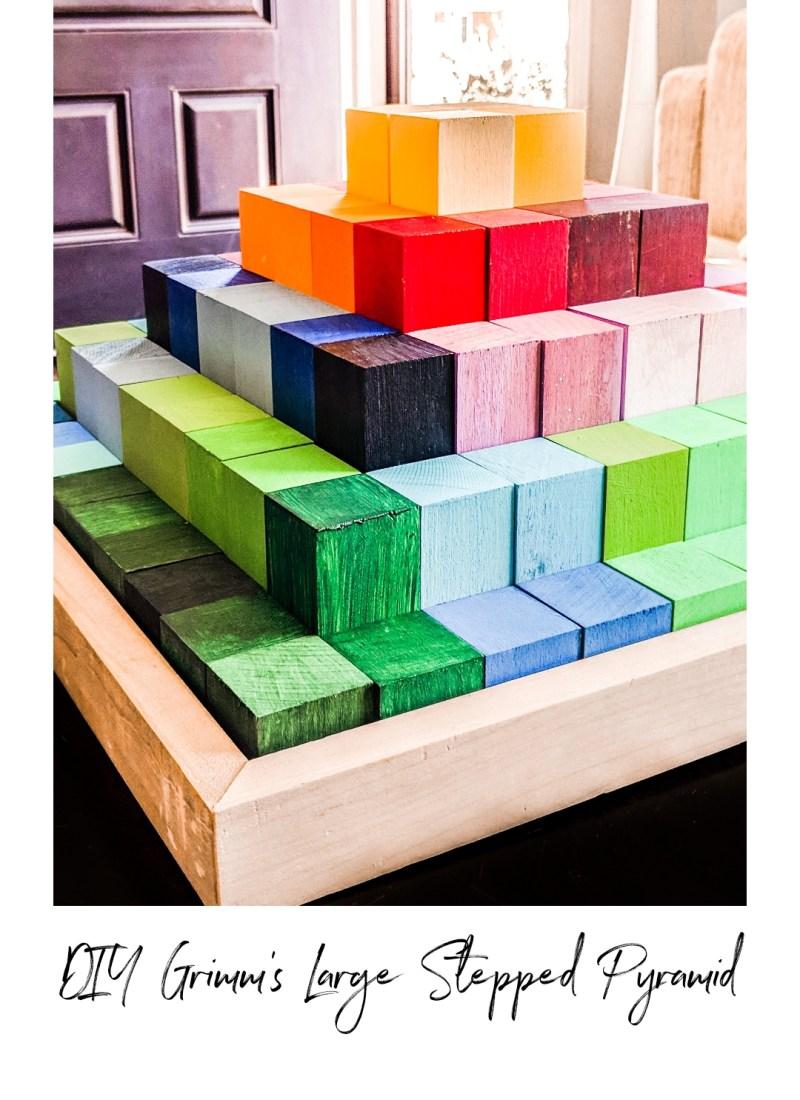 DIY Waldorf / Montessori Imitation Grimm's Large Stepped Pyramid