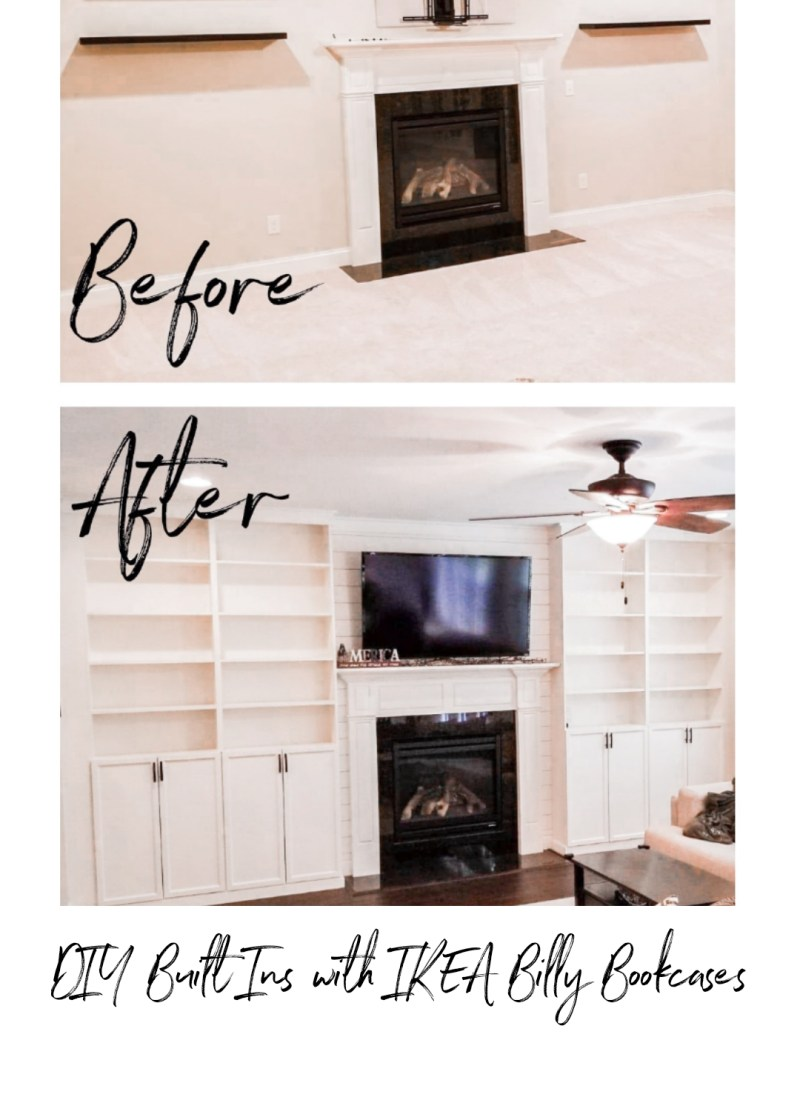 DIY Built Ins IKEA Billy Bookcase Hack
