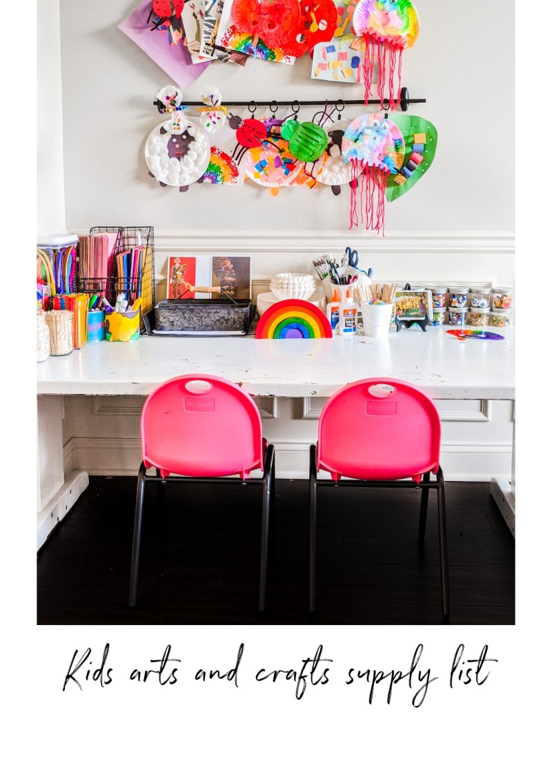 30 Kids' Arts & Crafts Essentials Supply List