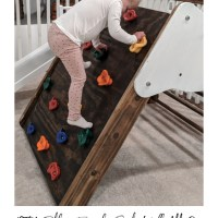 DIY Pikler Triangle Toddler Rock Climbing Wall