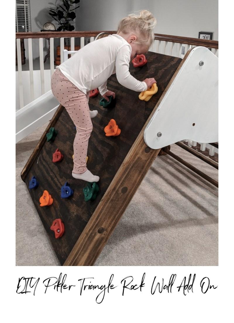DIY Pikler Triangle Toddler Rock Climbing Wall