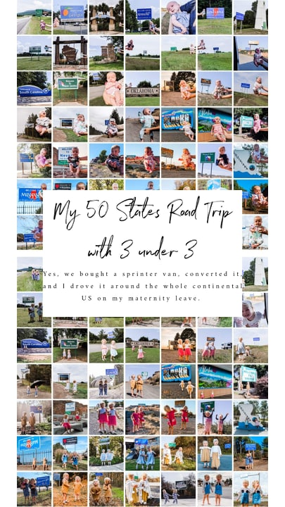 My 50 State Road Trip with 3 Under 3