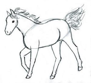 horse drawing draw step easy sketches steps drew paint painting tutorials tutorial erase tag lightly finally lines those should them