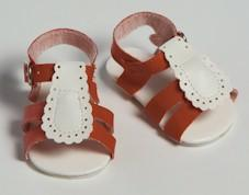 Red/White Sandals