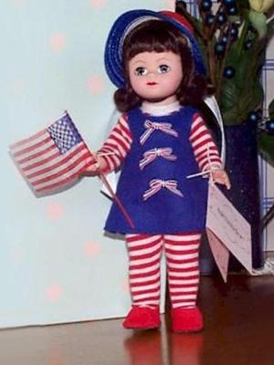 waving the flag maggie by madame alexander