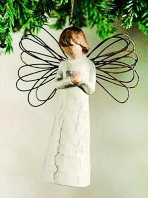 Angel of Giving Ornament by Willow Tree