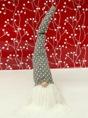 tomte with tall grey hat