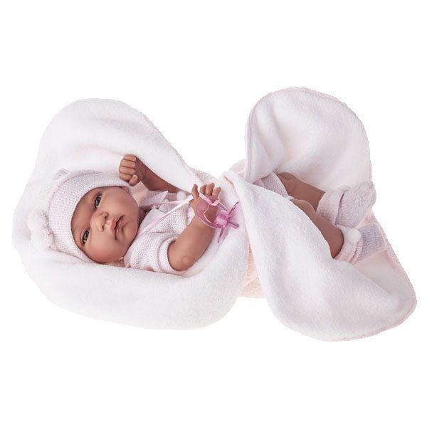 Baby Tonet Girl with Blanket