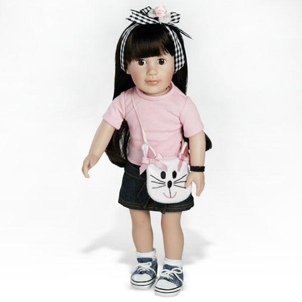 Emily, Brunette - Pink Denim Outfit