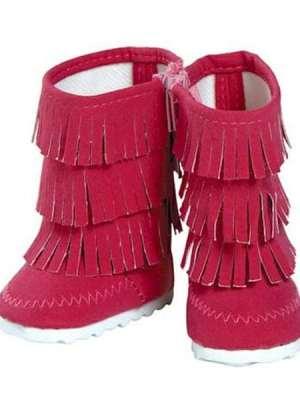 Hot Pink Fringe Boots