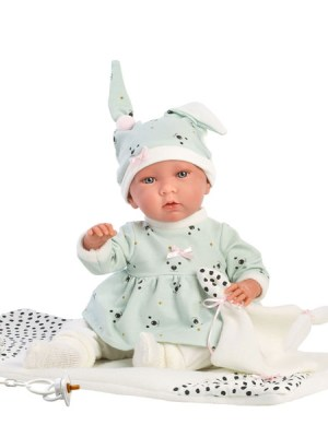 Crying Soft Body Baby Doll Francesca and Swaddle Blanket