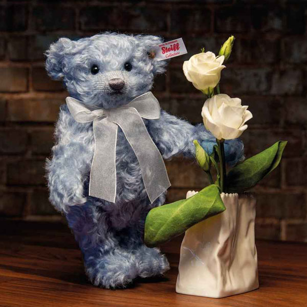 Lily Teddy bear with Rosenthal Vase