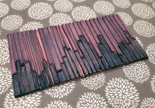 hand carved block for block printing - abstract stripe