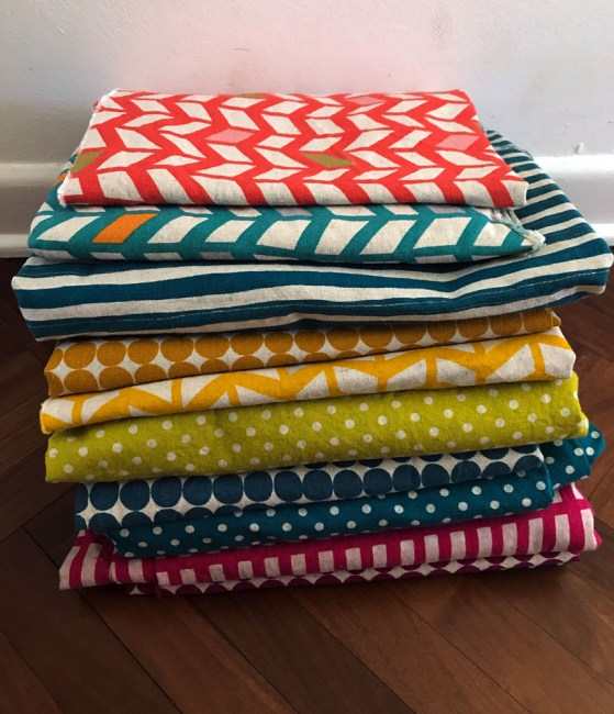 nippori textile town - printed linens and kokka
