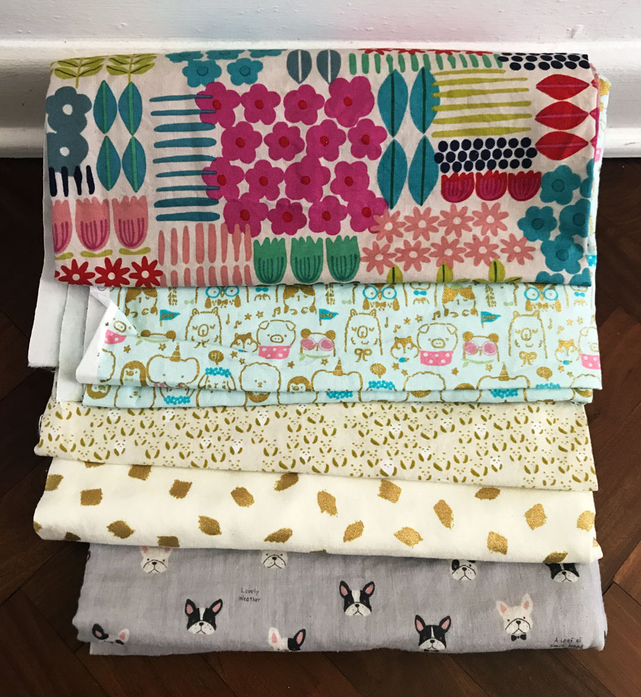 nippori textile town - double gauze and cute animals fabric