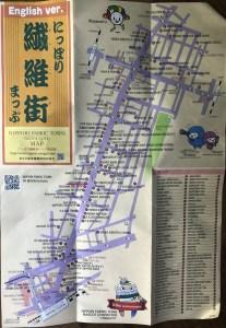 nippori textile town - 2020 map