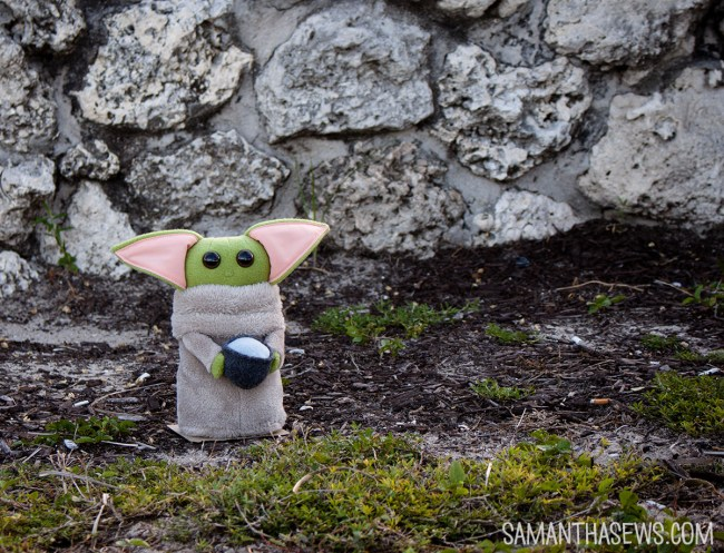 baby yoda with mug handmade plush