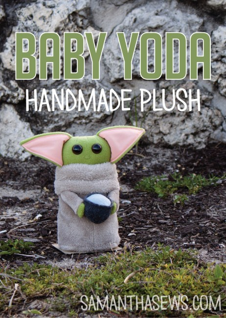 baby yoda handmade plush - baby yoda stuffed animal