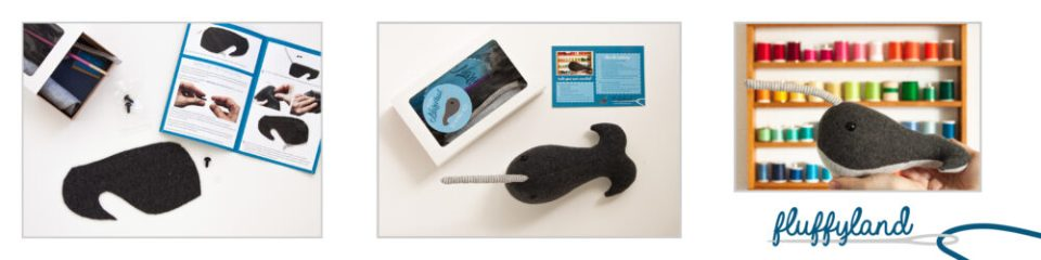 Narwhal Sewing Kit from Fluffyland