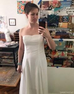 wedding dress sewing