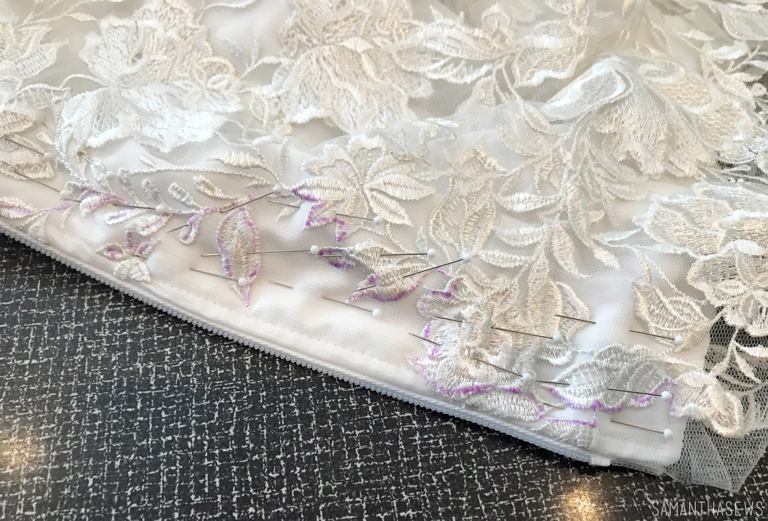 sewing a wedding dress invisible zipper