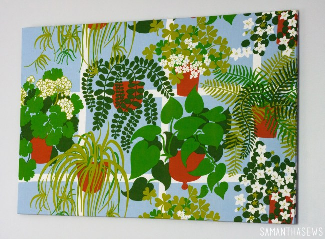 plant fabric canvas wall art
