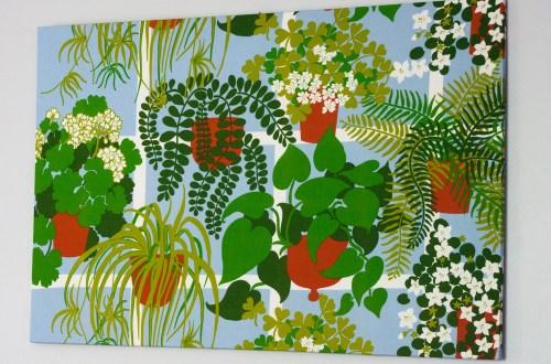 plant fabric canvas wall art