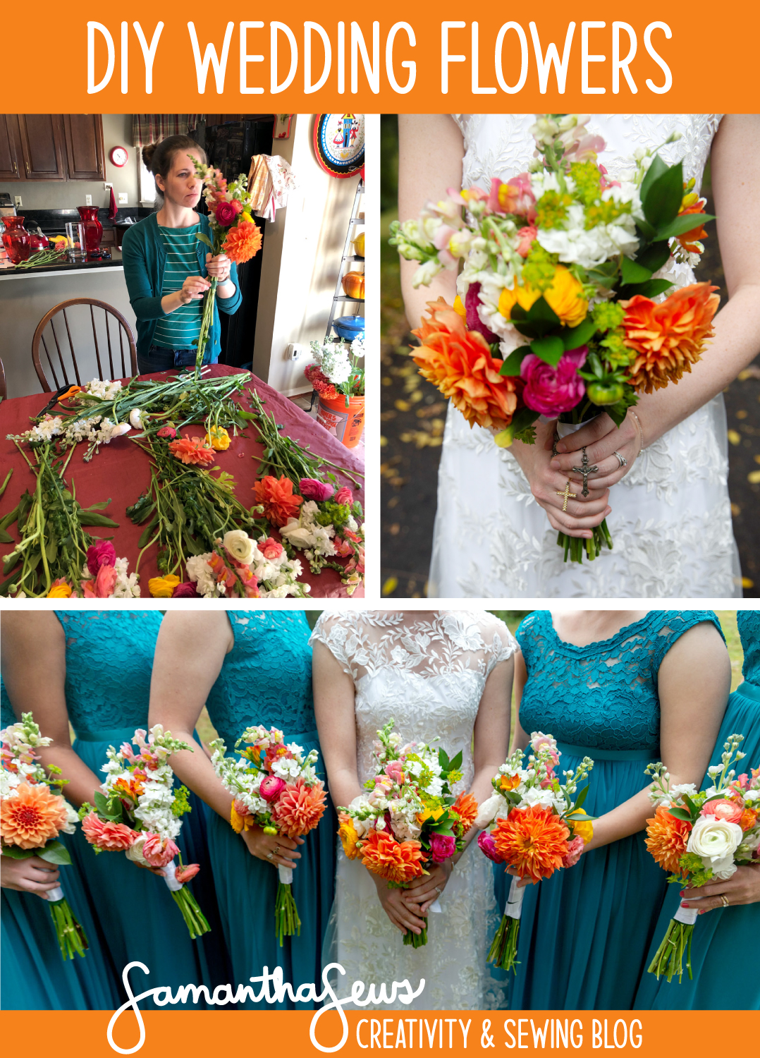 DIY Wedding Flowers: Make your own bridesmaid bouquets