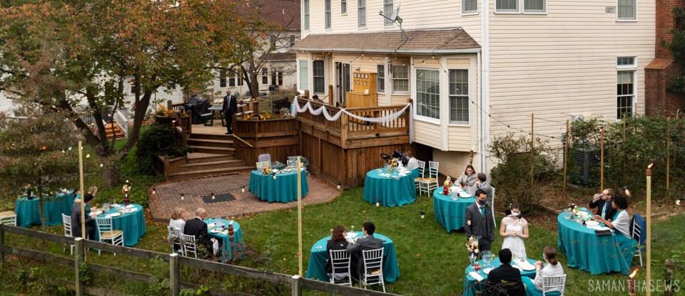 DIY backyard wedding - samanthasews blog