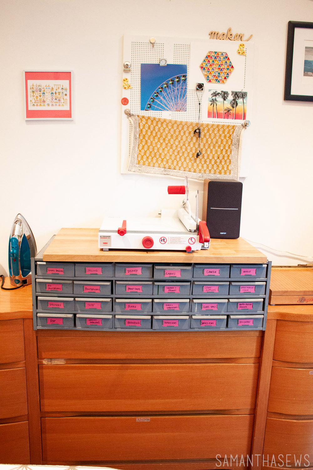 sewing room drawer unit