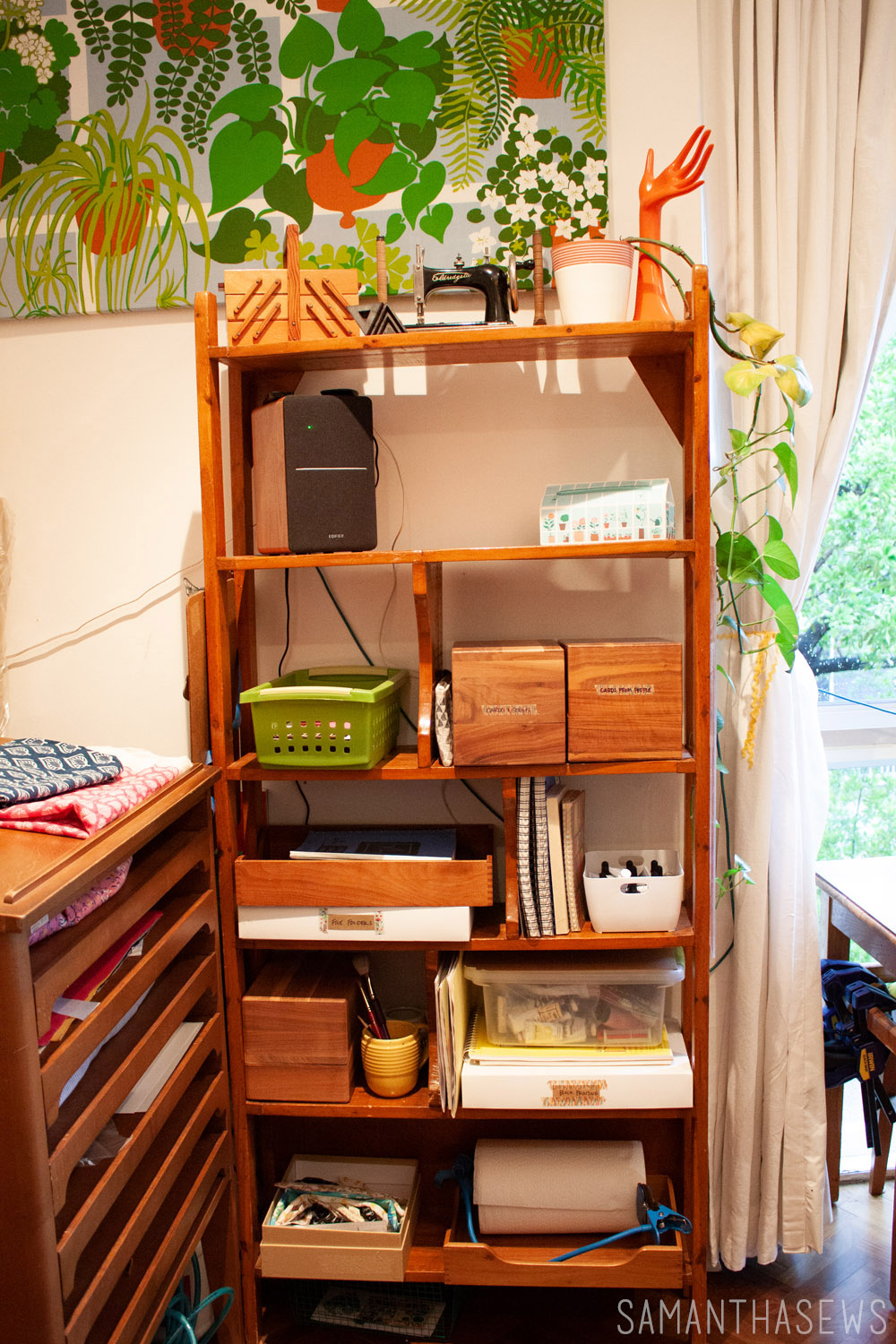 sewing room shelving unit