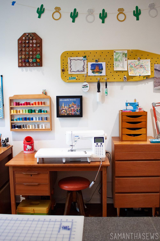 sewing room tour - thread storage