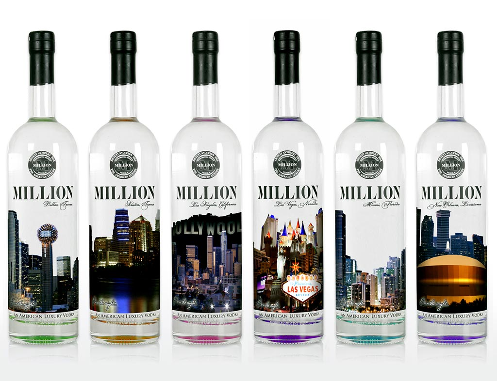 Million Vodka Bottle Design
