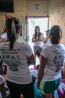 Hellas Hearts of Hope debriefing before piñata day