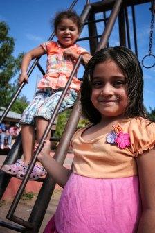 Girls at the playground