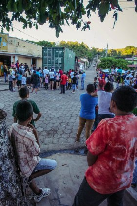 Village of Jucuarán waiting in anticipation