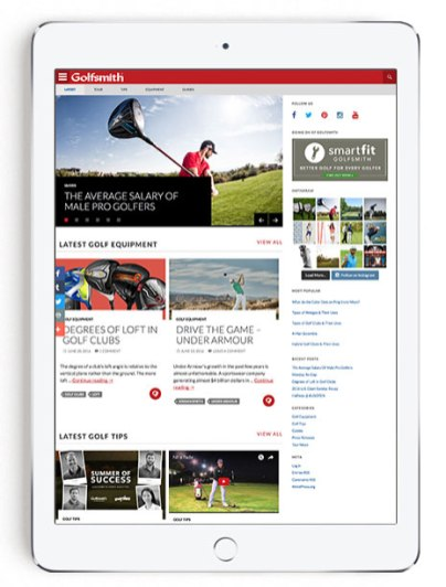Blog Home Page on Tablet