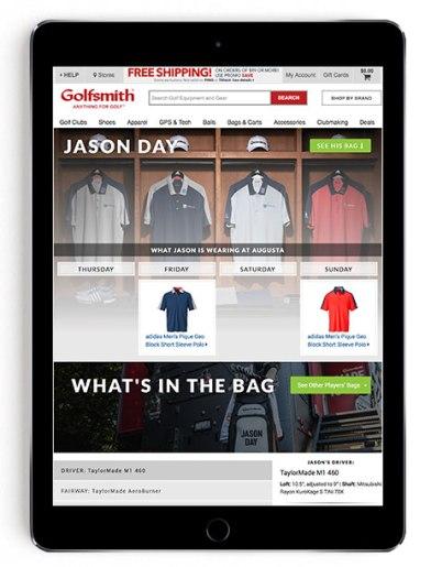 Jason Day Masters scripting on Golfsmith