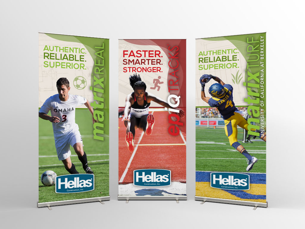 Pop-up Banners - Matrix Turf and EpiqTracks