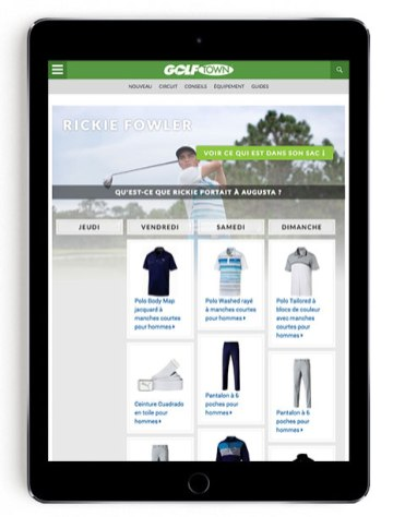 Rickie Fowler Masters scripting on GT Blog in French