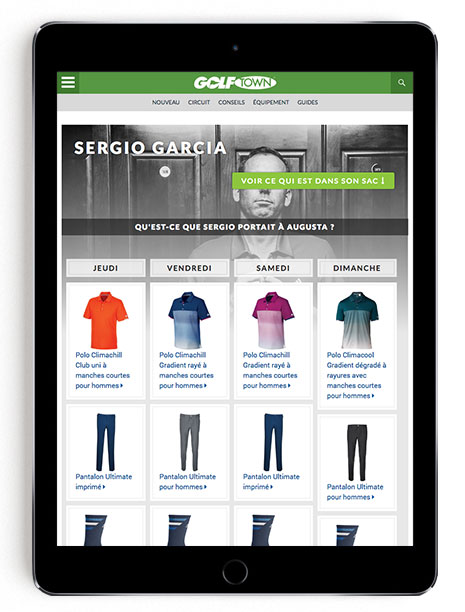 Sergio Garcia Masters scripting on GT Blog in French