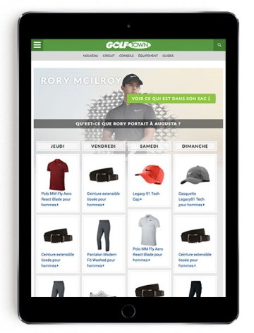 Rory McIlroy Masters scripting on GT Blog in French