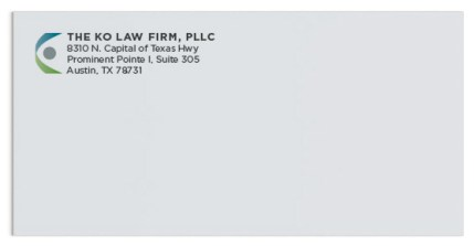 Envelope for Ko Law Firm