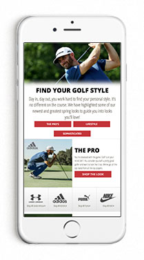 Find Your Golf Style Men's Look Book Page