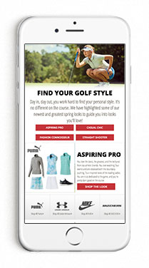 Find Your Golf Style Women's Look Book Page