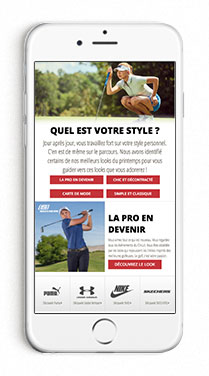 Mobile Women's Look Book Page in French