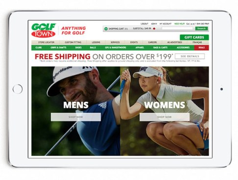 Microsite Landing Page for 2017 Spring Golf Look Book in English