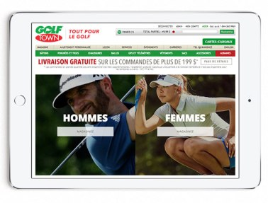 Microsite Landing Page for 2017 Spring Golf Look Book in French