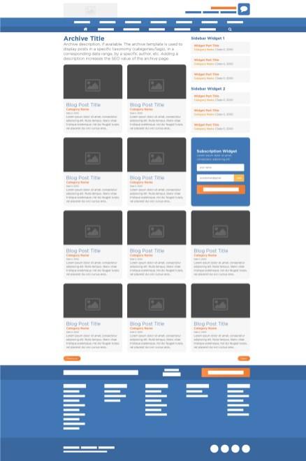HostGator Blog Archive Final Wireframe