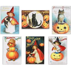 Halloween glitter postcards, Paper Source, $13.95